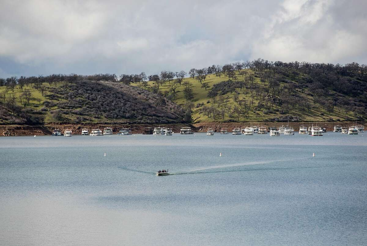 Lake Don Pedro is seen near the Lake Don Pedro Marina in La Grange, Calif., on Saturday, February 17, 2019. The full-service marina has boats, personal watercraft and houseboats available for rental.