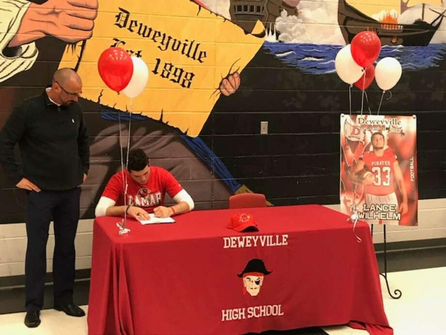 Deweyville's Lance Wilhelm signs to play football at Lamar. Photo: Submitted Photo