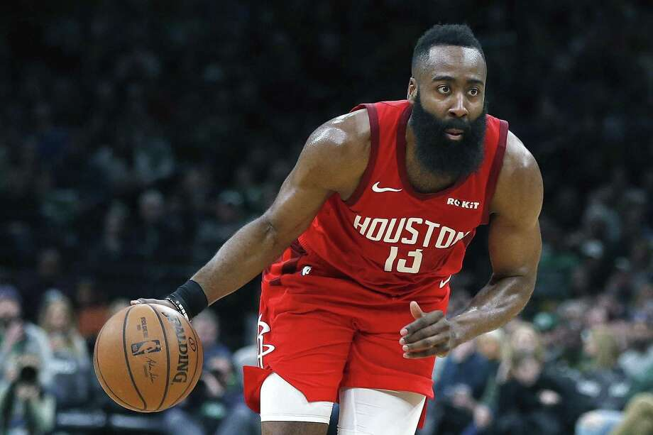 23473ab2894f Houston Rockets  James Harden plays against the Boston Celtics during the  second half of an