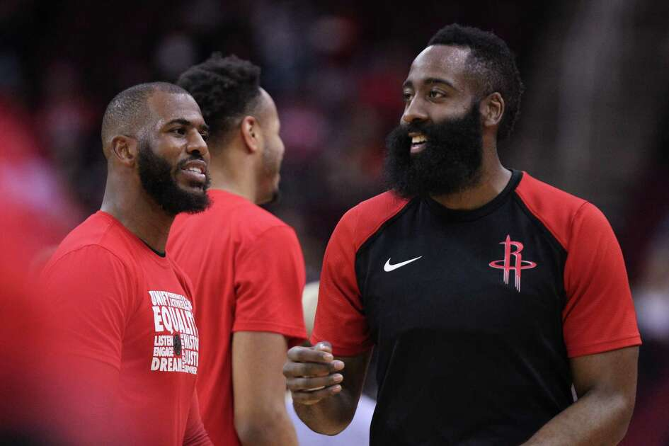 With Chris Paul, left, having rejoined James Harden recently, the Rockets haven't moved up from fifth in the West. But thier five-game winning streak leave them only a game out of third.