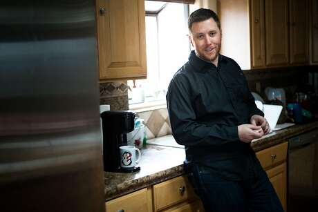 Bryan Allegretto prepares a cup of coffee before writing the days Open Snow forecast at his Reno, Nevada home. Photo: AJ Marino / Special To The Chronicle