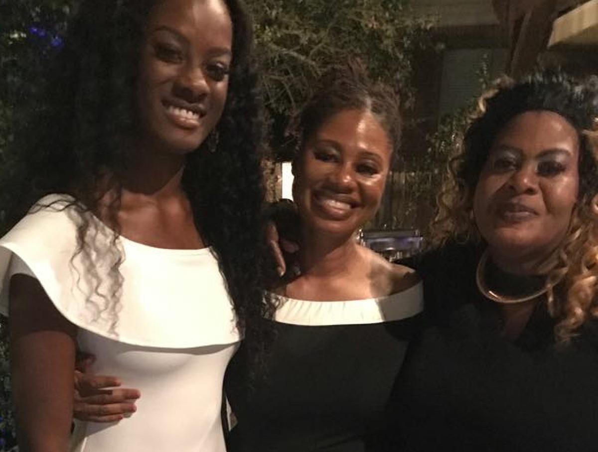 Andreen Mcdonald with sister, Cindy Ann Johnson and their mother, Hyacinth Smith, celebrating Andreen's birthday in 2017. Courtesy photo.