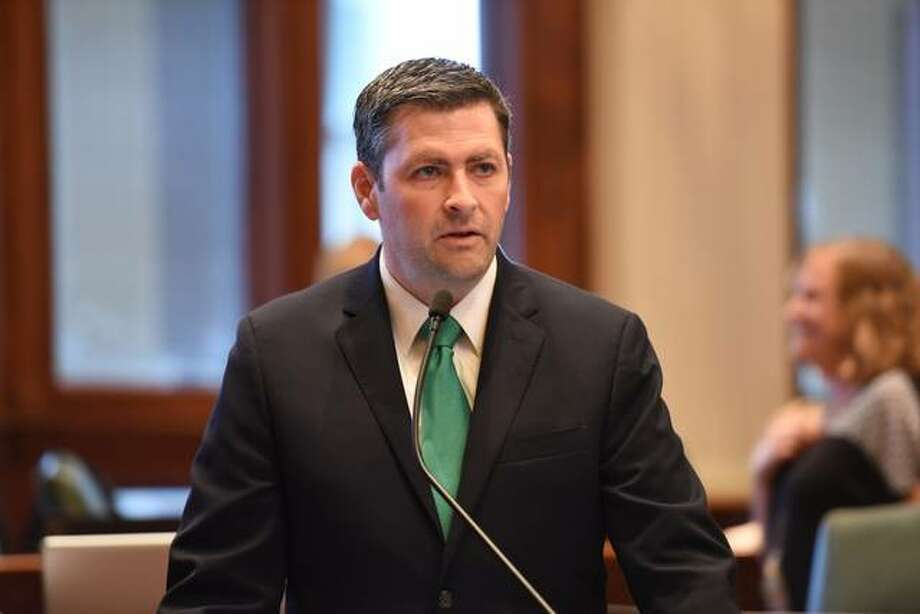 Former state Rep. Peter Breen, shown here on the House floor in Springfield, is now vice president and senior counsel for The Thomas More Society. The conservative pro-life law firm last week released a 13-page report pointing out its opposition to legislation that would repeal and replace current abortion law in Illinois. Photo: Courtesy Of Reppeterbreen.org