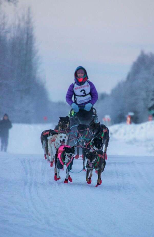 Gladwin native Shaynee Traska recently began the 1,000-mile Iditarod sled dog race in Alaska for a second straight year. Last year, Traska became the first woman born and raised in Michigan to complete the race. She now resides in Alaska. (Photo courtesy of Emily Rosenblatt)