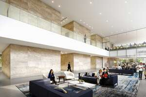 The renovations will include a new two-story lobby at Two Allen Center.