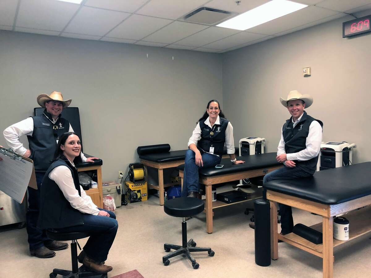 The all-volunteer Medical and Safety committee, made up of approximately 125 members, not only provides free medical treatment for the rodeo athletes but also for their families.
