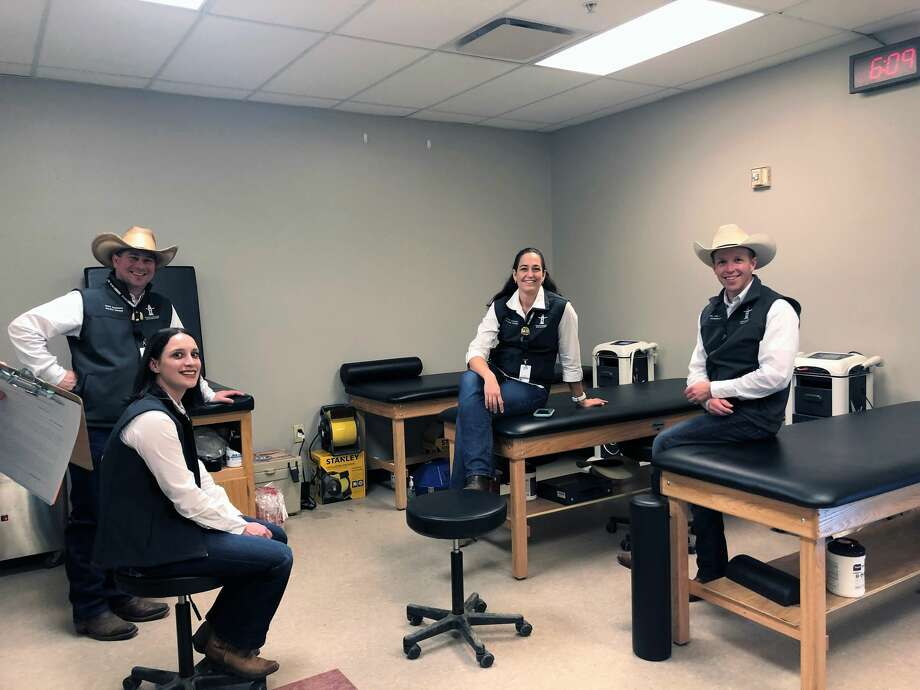 The all-volunteer Medical and Safety committee, made up of approximately 125 members, not only provides free medical treatment for the rodeo athletes but also for their families. Photo: Marcy De Luna