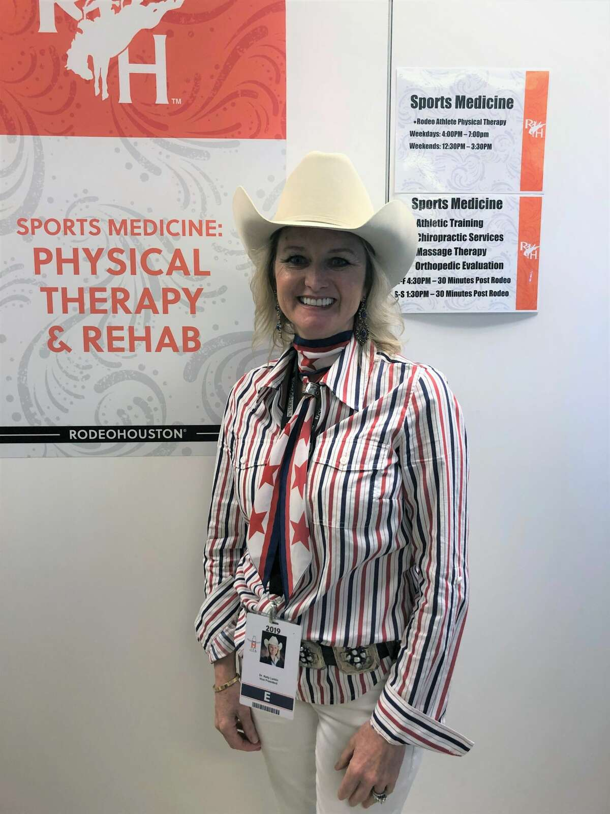 HLSR Medical and Safety committee member and chief of emergency medicine at Baylor St. Luke's Medical Center, Dr. Kelly Larkin.