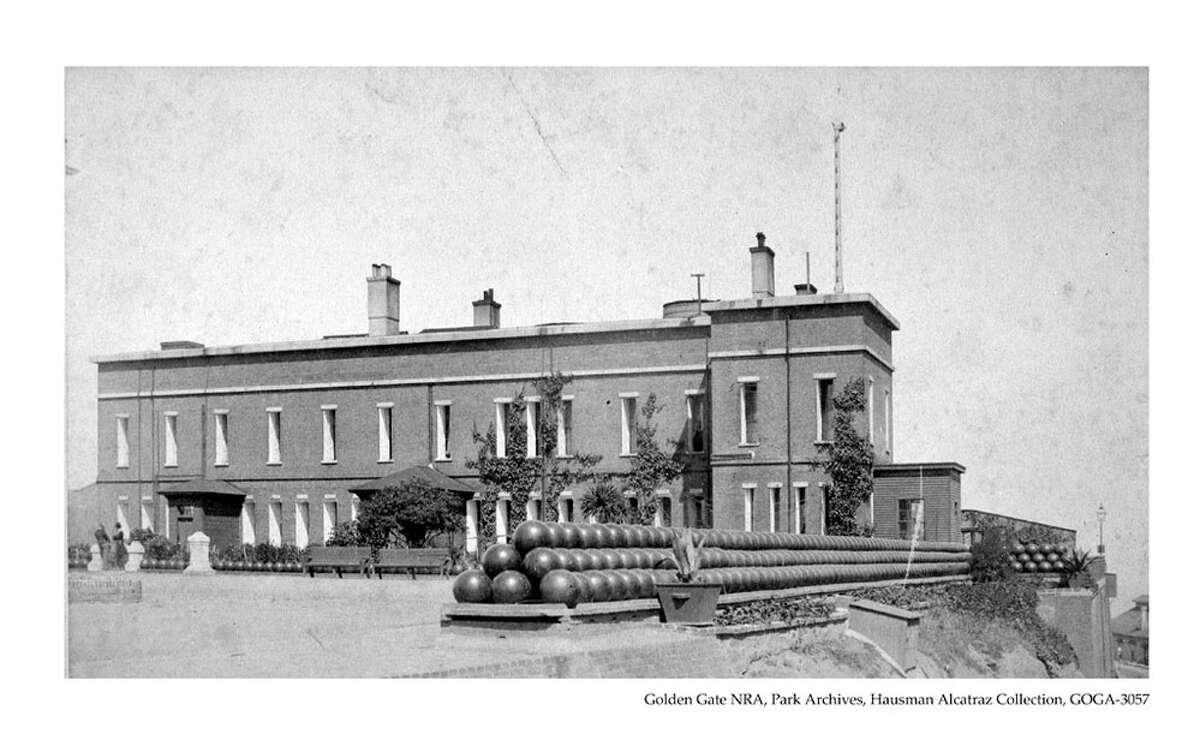 A building on Alcatraz circa 1885.