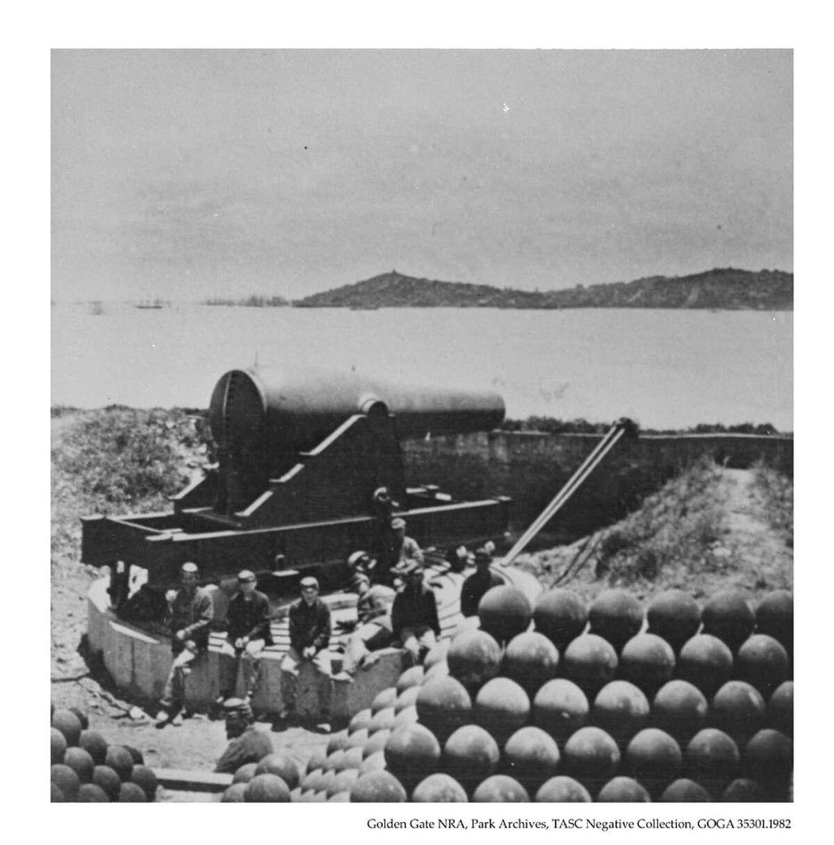 Battery McClellan on Alcatraz in 1868.