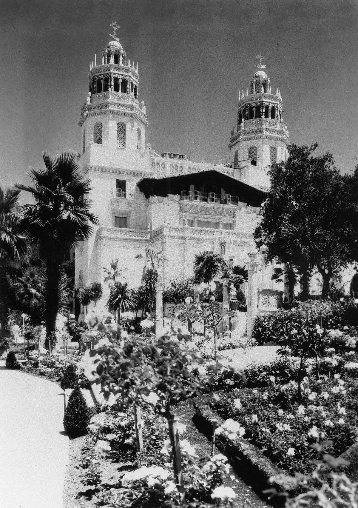 Historic image of Hearst Castle in its heyday.