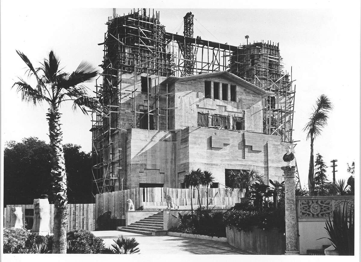 The main house, called Casa Grande, under construction at Hearst Castle.