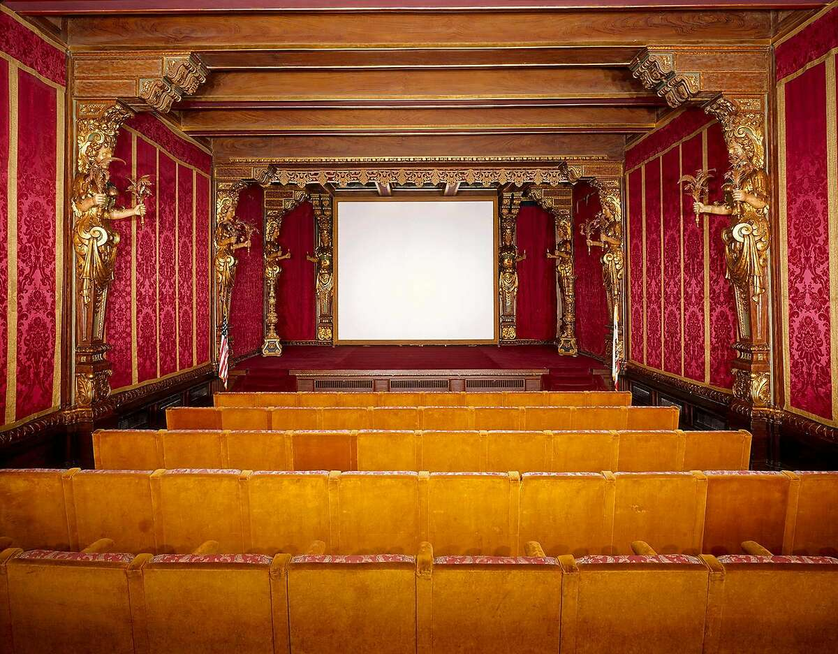 The estate's Movie Theater, located in Casa Grande, may be seen on the Grand Rooms Tour.