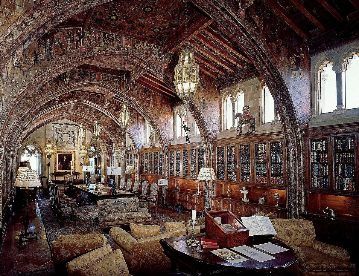 The Gothic Study, Mr. Hearst's private library and office can been seen on the Upstairs Suites Tour at Hearst Castle.