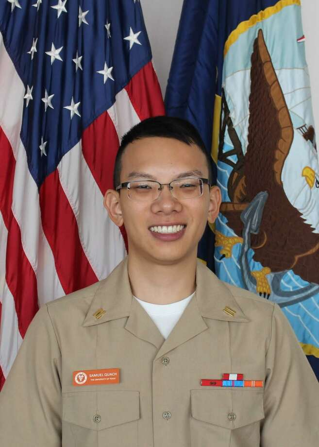 Navy Midshipman Samuel Quach, from Sugar Land, recently participated in the 2019 spring Naval Reserve Officer Training Corps ship selection draft as a future member of the Surface Warfare Officer community. Photo: Navy Office Of Community Outreach