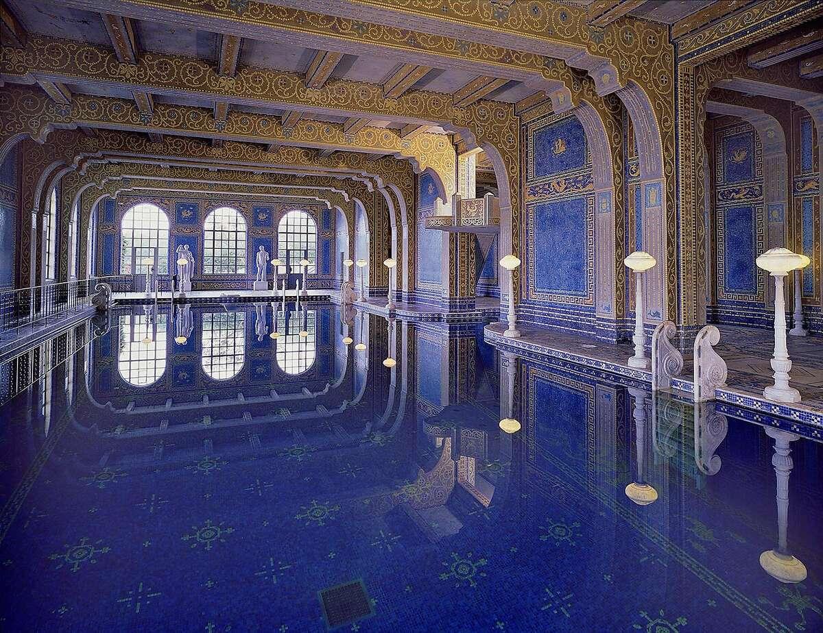 The indoor Roman Pool at Hearst Castle in San Simeon, California.