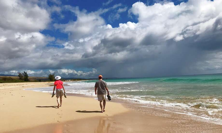 A stroll along Barking Sands beach on the southwest side of Kauai in February 2019 Photo: Chris McGinnis