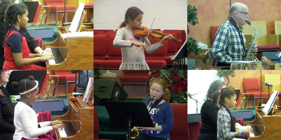 The Family Music Center's 2018 Winter Student Concert was a great success. Nearly 30 students performed at the Bible Gospel Center for their semi-annual musical concert Dec. 1 as part of their overall music education. For additional information, call or email the Family Music Center at 203-288-5647 or FamilyMusicCenter@yahoo.com. Pictured, from top left, Bethel Desta; top center, Sahana Dodd; top right, Michael Murray; bottom left, Winnie Bertrand; bottom center, Jenna Dadio; bottom right, .Christina Cuesta Photo: Contributed Photo