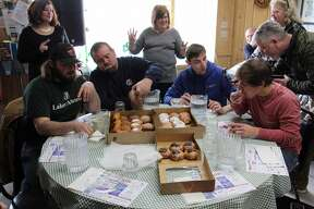 Scenes from this year's second annual Huron Daily Tribune Paczki Eating Contest at Main Street Cafe and Bakery in Pigeon.