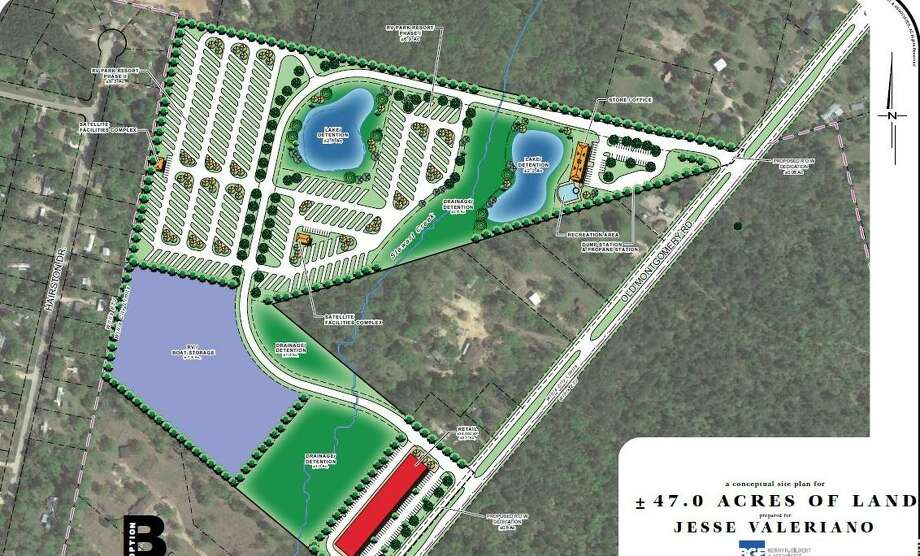 A new RV Park has been proposed to be located at Old Montgomery Road in Willis where Stewart Creek runs. Photo: Submitted Photo / Submitted Photo