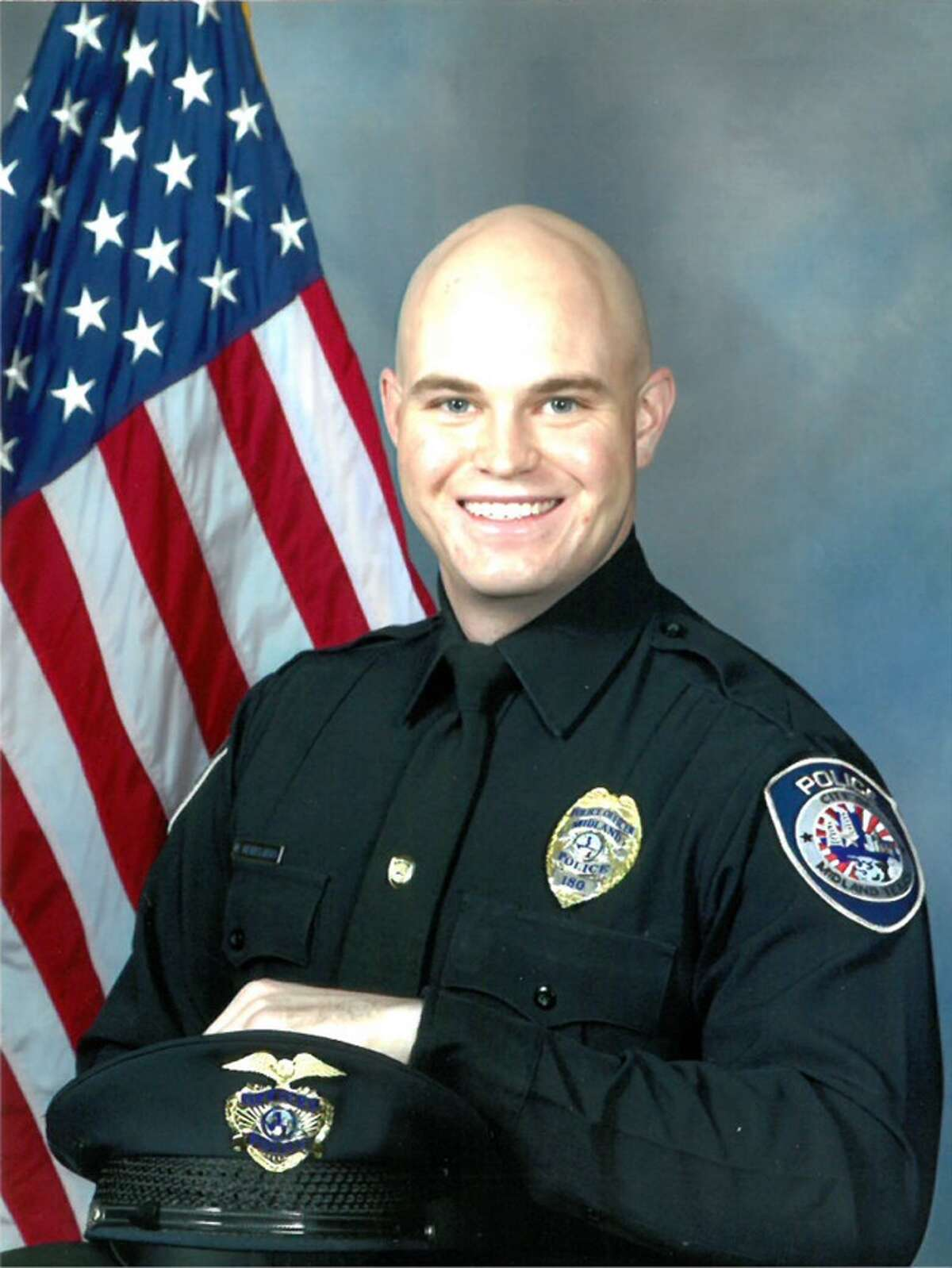 Midland Police Department Officer Nathan Heidelberg died this morning after being shot while responding to an alarm at a local residence, according to the city's spokesman.