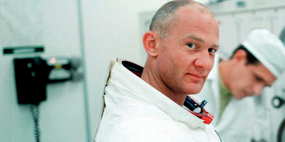 "This image released by Neon/CNN Films shows Buzz Aldrin in a scene from the film ""Apollo 11."" Photo: Neon/CNN Films Via AP"