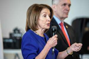 U.S. House Speaker Nancy Pelosi, a Democrat from California, speaks during an H.R. 1 act event in Austin, Texas, U.S., on Tuesday, March 5, 2019. The bill would makepurgesof voter rolls more difficult by requiring more stringent checks before a registered voter's name can be removed, and by requiring a state's cross-check of names on out-of-state voter databases to be completed no later than 6 months before an election. Photographer: Sergio Flores/Bloomberg