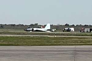 The plane, a high altitude research aircraft known as a WB-57, had a not-yet-identified malfunction on the runway, one NASA spokesman said.