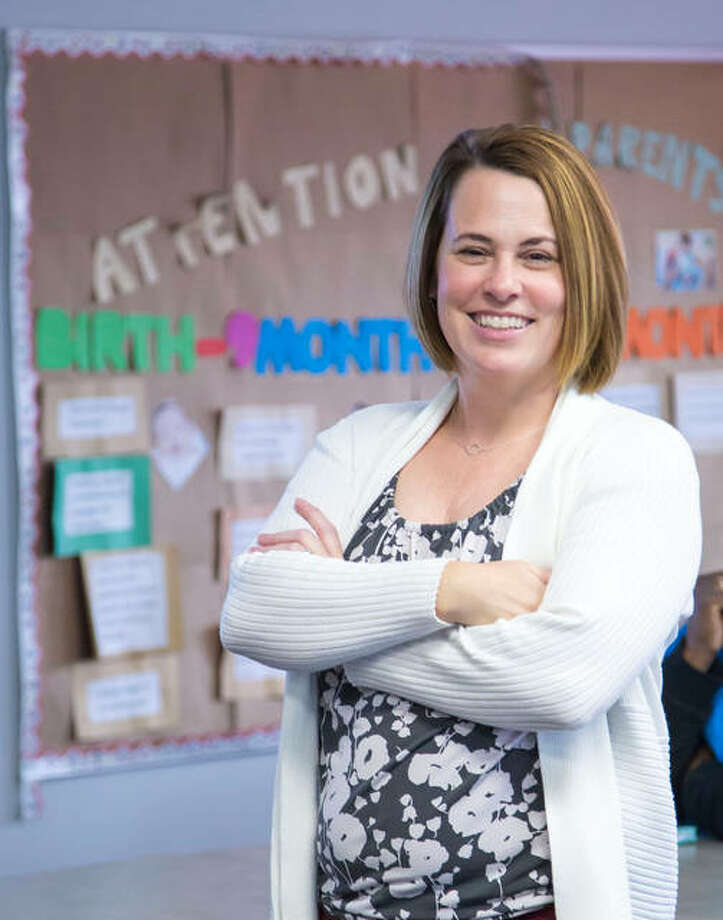 L&C Early Childhood Education Professor and Coordinator Melissa Batchelor received the 2018 Concern for Children Award from Kreative Kids Learning Center. Photo: Photo By Jan Dona, L&C Media Services