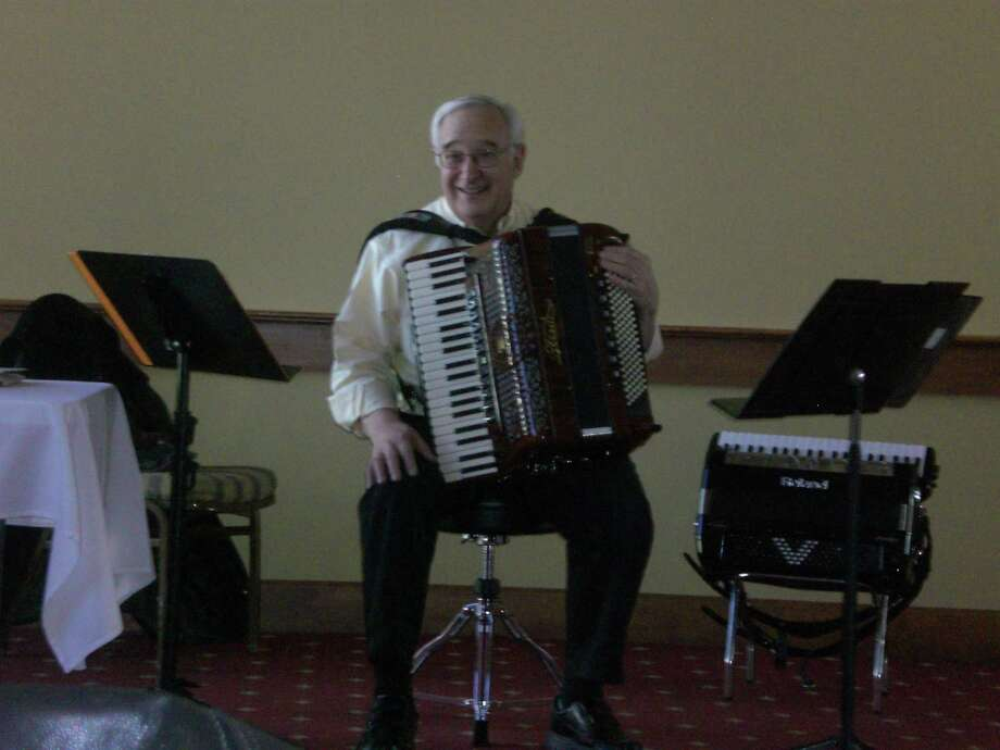 """Angelo Paul Ramunni of Canaan, Conn., author of his recently-published book """"Accordion Stories From The Heart"""", will present a book signing and mini-concert hosted by Rowley Grill & Tap at 19 Rowley Street in Winsted, Sunday, March 10. Photo: Contributed Photo /"""