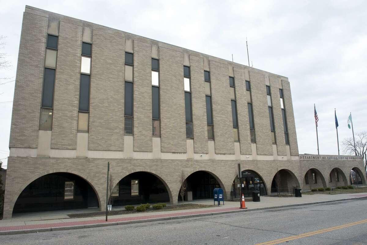 Exterior, Bridgeport Police Headquarters in Bridgeport, Conn. March 1, 2018.