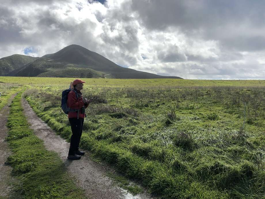 The author admires the landscape beside PG&'s Point Buchon Trail, just south of Montaña de Oro State Park. Photo: Katherine Howells /