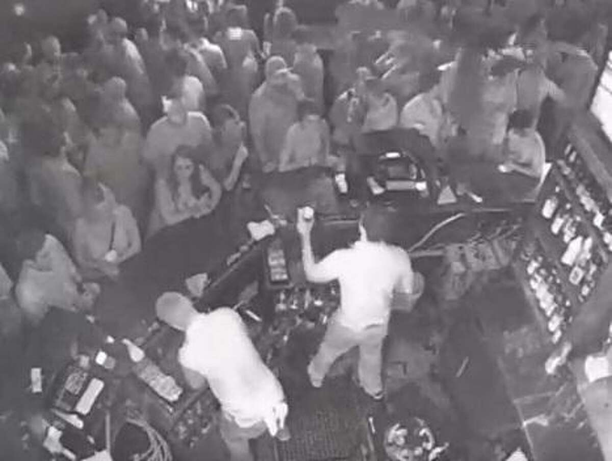 Surveillance video of Rebel Draft House in College Station, Parents Weekend, 2016.