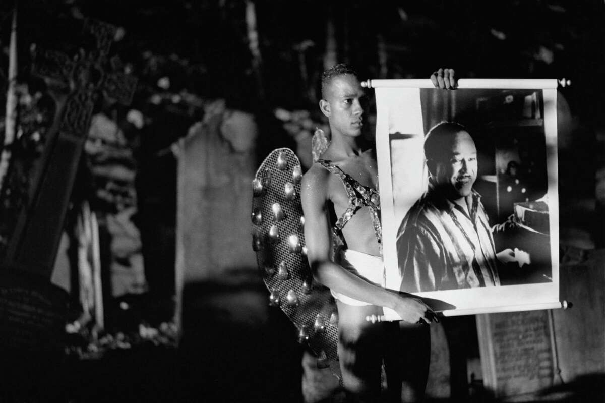 """Isaac Julien's film """"Looking for Langston"""" is a visually sumptuous work shot in black and white. It was restored to mark its 30th anniversary."""