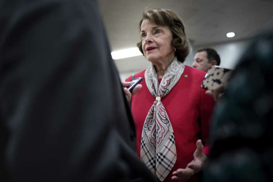 In an encounter with young people urging her to back the Green New Deal, Sen. Dianne Feinstein illustrated why too much experience as a politicians might not be a good thing. Photo: ERIN SCHAFF /NYT / NYTNS