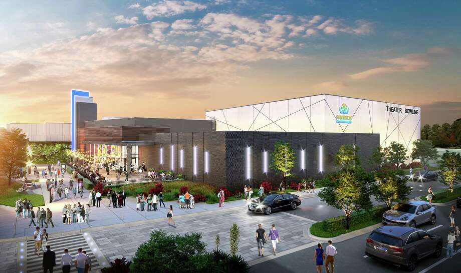 Renderings show Santikos Entertainment's planned entertainment complex in Cibolo. Photo: Courtesy Of Santikos Entertainment