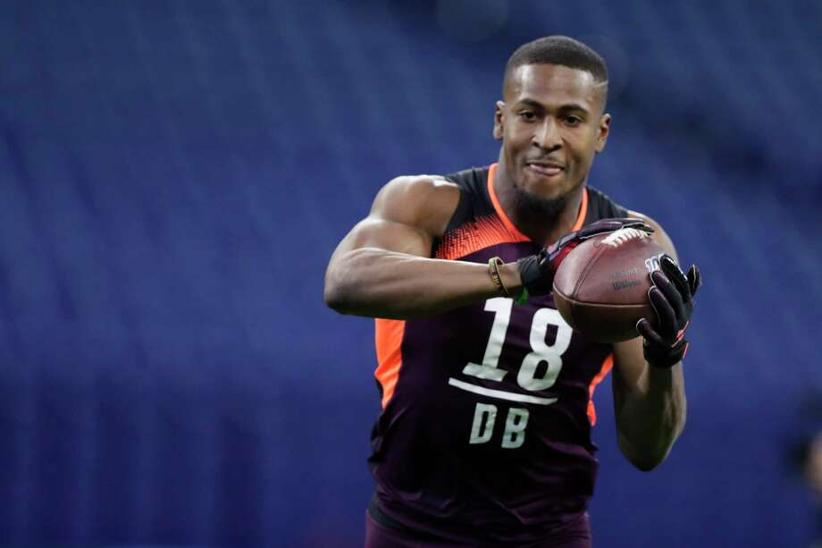 PHOTOS: Former Houston high school stars in the 2019 NFL Draft  Houston defensive back Isaiah Johnson runs a drill at the NFL football scouting combine in Indianapolis, Monday, March 4, 2019. (AP Photo/Michael Conroy)  >>>Players from the Houston area who could be selected in the 2019 NFL Draft on April 25-27 ...  Photo: Michael Conroy, Associated Press / Copyright 2019 The Associated Press. All rights reserved.