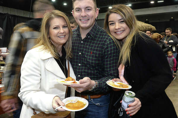 Wendy and Daniel Mullens and Chelsea Morgan were at the annual Taste of the Triangle at the Beaumont Civic Center Tuesday. Photo taken Tuesday, March 5, 2019 Kim Brent/The Enterprise