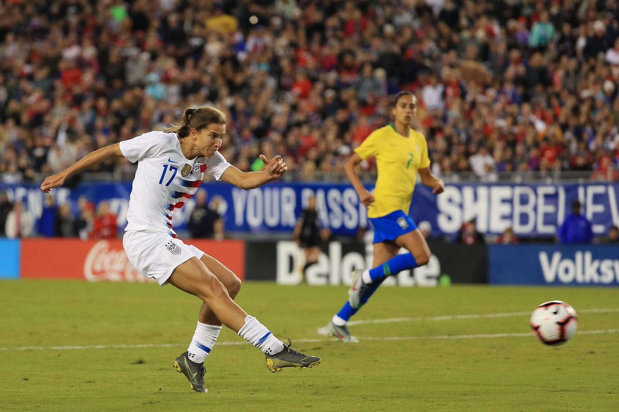11b04738d20 Tobin Heath s goal gives U.S. 1-0 win over Brazil - SFGate