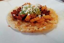 The Chorizo Taco at Black Creek Kitchen, 3305 West River Road in Sanford. (Photo by Matthew Woods)