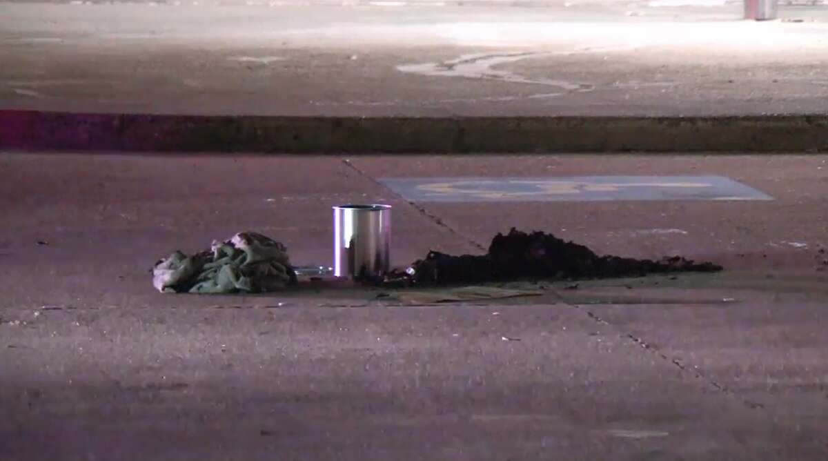 A woman said a suspect lit her on fire Tuesday night while she slept outside a southwest Houston strip center. She suffered serious burns but is expected to survive.
