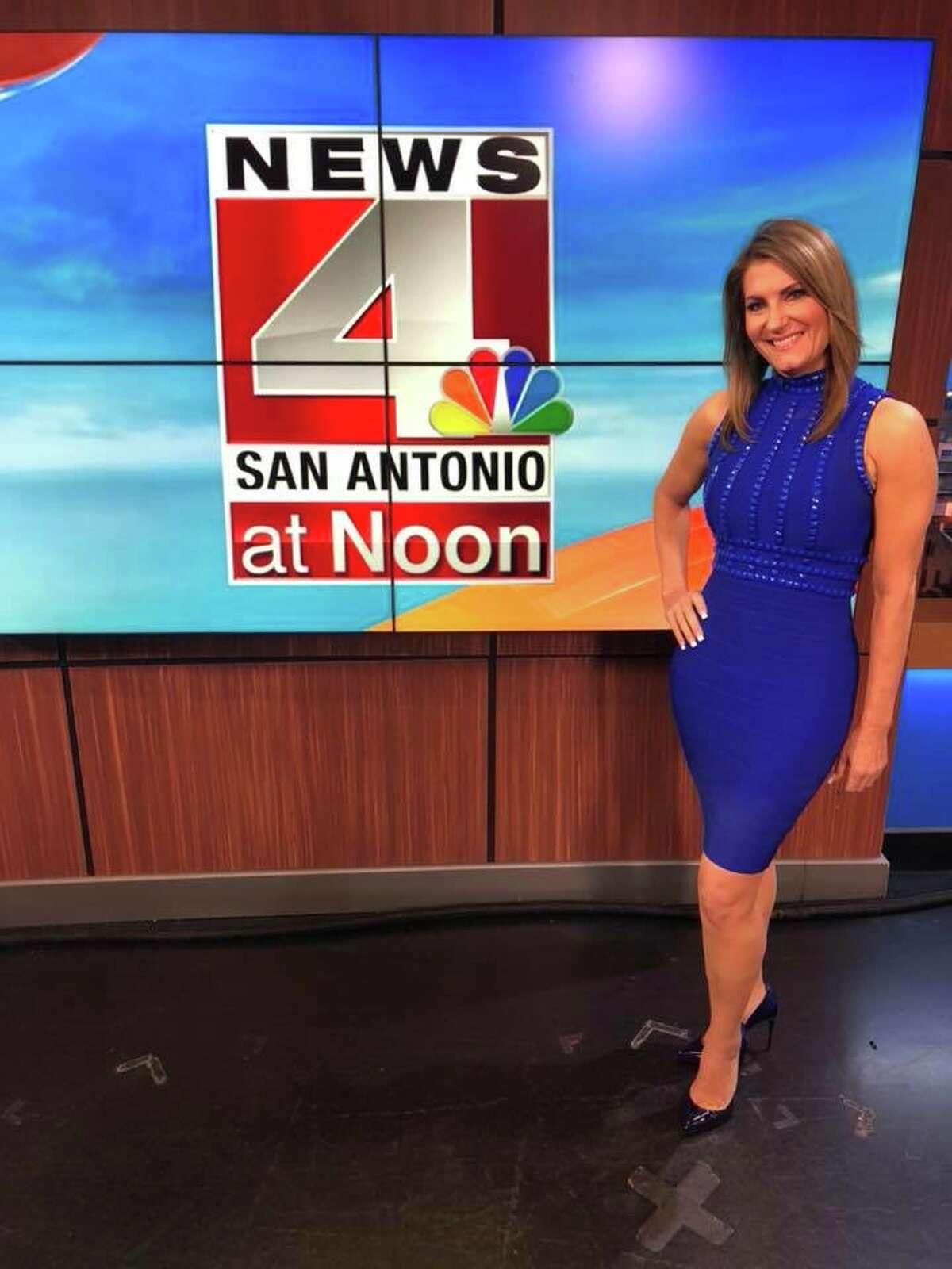 Leslie Bohl on her last newscast of her career. She walked away from anchor desk June 2018.