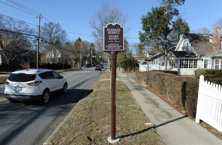 Stamford's Hubbard Heights neighborhood, established in the late 1700s, is the first in the city in more than 25 years to be designated as a Historic District by the National Park Service. A sign honoring its designation is photograph on Feb. 28, 2019 on Hubbard Avenue in Stamford, Connecticut. Photo: Matthew Brown / Hearst Connecticut Media / Stamford Advocate