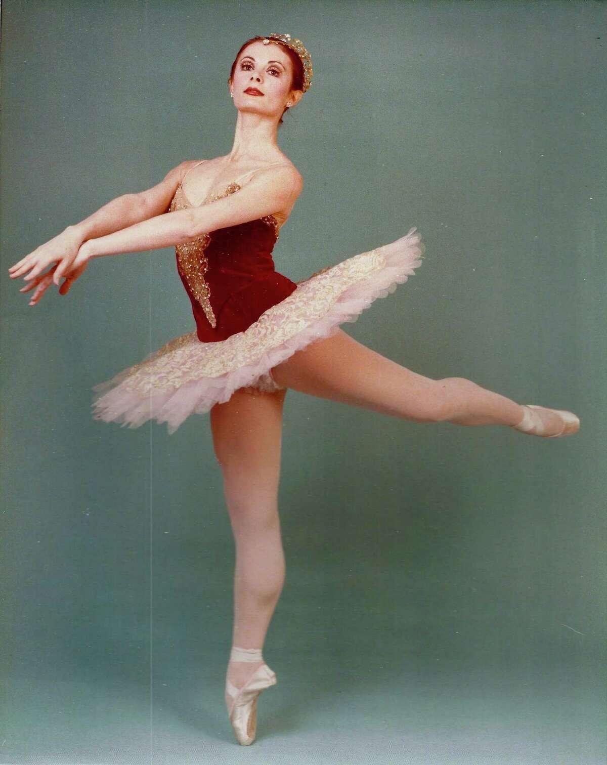 Denise Warner Limoli, Nutmeg's first ballerina, strikes a pose.