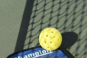 Pickleball combines badminton and tennis, using a tennis-like court and a whiffle ball.