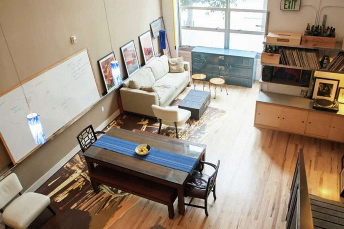 $975/night 1 bed/1 bath in SoMa - This unique converted loft space in Downtown San Francisco is filled with art to keep guests inspired. White boards, projectors, and a record player encourage creativity in the loft. To see more, click here