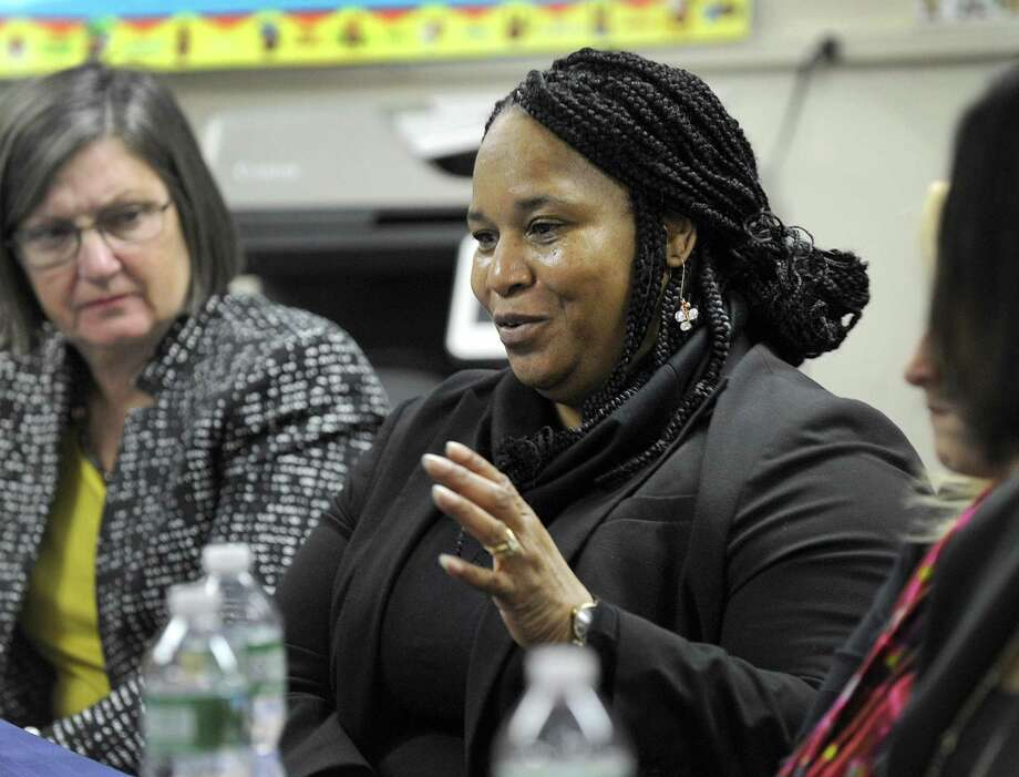 Marlene Moore-Callands abruptly retired from Danbury City Hall in September after a dispute with her bosses in the city's permitting department over what she claims was a hostile work environment following a 2017 confrontation about professional football players kneeling during the national anthem. Photo: Hearst Connecticut Media File Photo / The News-Times