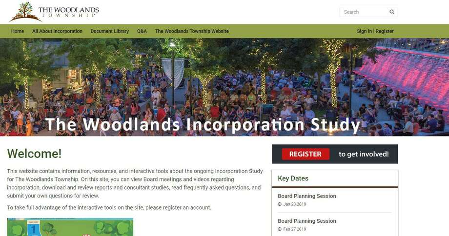 The Woodlands Township incorporation website has been live for nearly two months, but only slightly more than 1,000 visits have been made to the site in that time. Photo: Courtesy / Courtesy