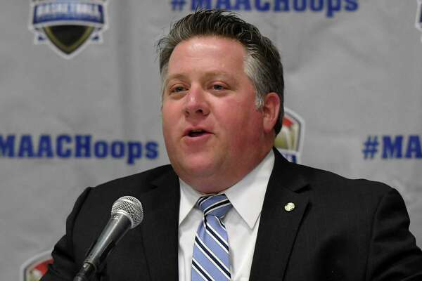 Albany County Executive Daniel P. McCoy speaks during a press conference for the 2019 MAAC Men?•s and Women?•s Basketball Championships on Wednesday, March 6, 2019 at the Times Union Center in Albany, NY. (Phoebe Sheehan/Times Union)