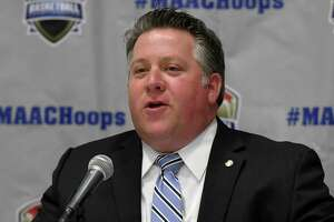 Albany County Executive Daniel P. McCoy speaks during a press conference for the 2019 MAAC MenÕs and WomenÕs Basketball Championships on Wednesday, March 6, 2019 at the Times Union Center in Albany, NY. (Phoebe Sheehan/Times Union)